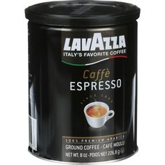 LavAzza Coffee - Caffe Espresso - Medium - Ground - 8 oz Can (Pack of 3)