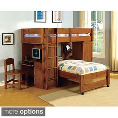 Shop for Furniture of America Carmenie Twin over Twin Loft Bed with Built-in Workstation. Get free delivery at Overstock.com - Your Online Furniture Outlet Store! Get 5% in rewards with Club O!