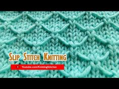 Slip Stitch Knitting How to knit the Trellis stitch. Here's a simple Slip Stitch pattern that will look nice in any knitting project. Slip Stitch Knitting, Knitting Stiches, Knitting Kits, Circular Knitting Needles, Knitting Videos, Crochet Stitches, Baby Knitting, Knitting Patterns, Knitting Help