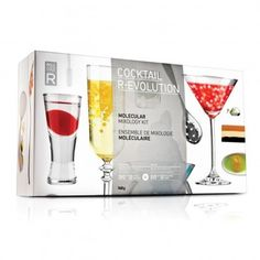 The second installment in the R-EVOLUTION series of DIY kits, Cocktail R-EVOLUTION takes mixology to the next level by bringing spherification, gelification and emulsification into the home bar. Now $49.95 on www.molecule-r.com.