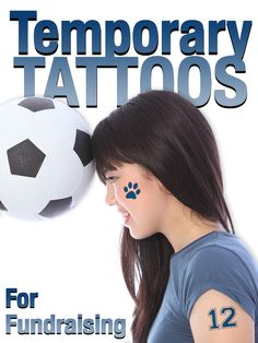 Temporary tattoos are a great idea for school or sports team fundraisers #fundraising #promotionalideas #temporarytattoos