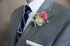 Pink + white wedding boutonniere - summer boutonniere for groom {BFA} Wedding Men, Wedding Attire, Summer Wedding, Wedding Ideas, Wedding Boutonniere, Boutonnieres, Groom Accessories, Groom And Groomsmen Attire, Groom Style