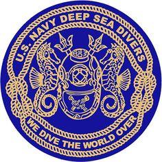 U.S. Navy Deep Sea Divers Decal – USAMM