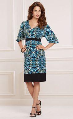 Print & Proper: Soma Flutter Sleeve V-Neck Short Dress #LoveSoma