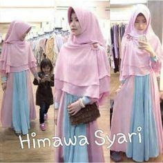 Gamis Syar'i Modern HIMAWA PINK - http://warongmuslim.com/gamis-syari/gamis-syari-modern-himawa-pink/