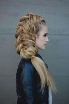 Fishtail braid done by Heather Chapman. Get the full tutorial here http://bit.ly/1GASv6Q