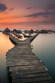Fishing houses on a lake in Bokod, a village in Komárom-Esztergom county, hungary Places Around The World, Oh The Places You'll Go, Places To Visit, Around The Worlds, Fish House, Water House, Adventure Is Out There, Adventure Time, Where To Go