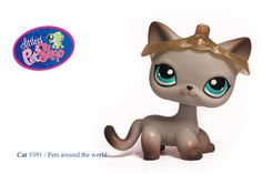 Littlest Pet Shop Pink /& Teal Ostrich Flower Design with Blue Eyes #2349 LOOSE//Packaged in Parts Bag LPS