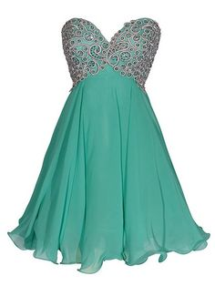 Empire Sweetheart Chiffon Short/Mini Sequins Inexpensive Homecoming Dresses