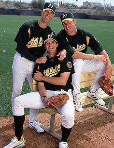 Tim Hudson, Mark Mulder and Barry Zito...the big three. AKA the reason the A's were even good in Moneyball.
