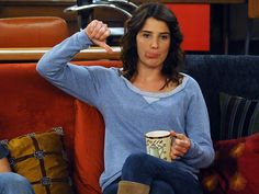 "Design Your Bedroom, Get A ""How I Met Your Mother"" Character You got: Robin Scherbatsky ""Let's ride, big daddy. Robin Scherbatsky, How I Met Your Mother, Ted Mosby, Ted And Robin, Tuesday Meme, All Robins, Design Your Bedroom, Yellow Umbrella, Cobie Smulders"