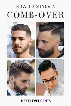 The comb over is a classic hairstyle where your hair is combed to one side with a side part. Over time, it's evolved, and there are now many variations. Retro Mens Hairstyles, Mens Comb Over Hairstyles, Mens Comb Over Haircut, Mens Hair Comb, Thin Hair Haircuts, Classic Hairstyles, Cool Haircuts, Haircuts For Men, Men's Hairstyles