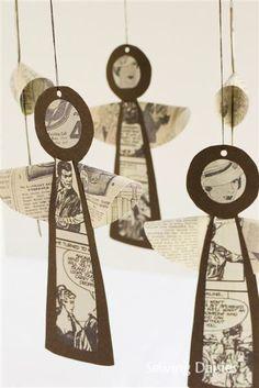 The Newsprint Series: Vintage Angels by Sewing Daisies
