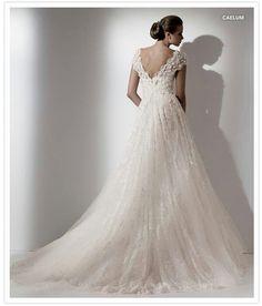 Elie Saab wedding gown.  Flowing vintage lace.