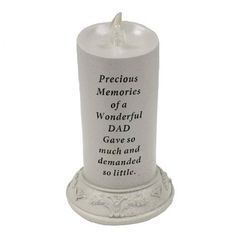 Grandad Solar Candle Memorial Flickering Funeral Tribute Keepsake Remembrance