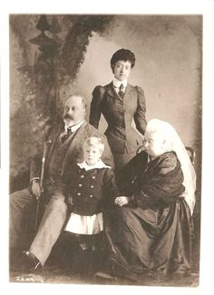 Little prince Edward with grandfather, Prince Albert Edward of Wales, aunt Pss Victoria of Wales and great grandmother, Queen Victoria.