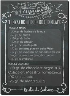 Trenza de brioche de chocolate con ganache de chocolate