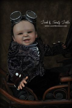 Steampunk victorian gothic Oliver reborn baby doll