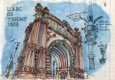 arc de triomf by lapin barcelona, via Flickr
