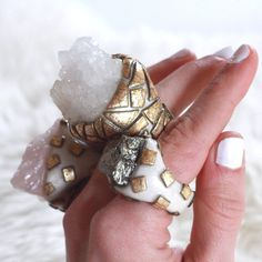 rose quartz ring / raw rose quartz ring / quartz by VagabondQueen, $122.00