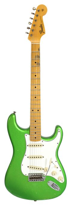 Fender Custom Shop Postmodern Stratocaster Journeyman Relic Lime Green Metallic   Rainbow Guitars