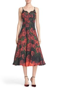 Tracy Reese Lace Trim Flared Slipdress available at #Nordstrom