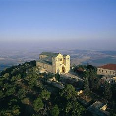 Church of the Transfiguration  Mt. Tabor, Israel.   Mt Tabor, not far from Nazareth, is believed to be the site of the Transfiguration of Christ.