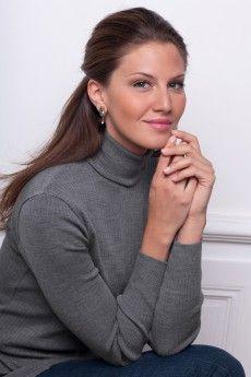 31708fd68ef0 Le pull chaussette femme étain.Pure laine vierge mérinos. Fabrication  française.