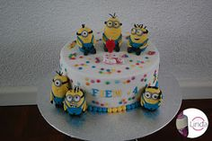 Minions cake with fondant minions