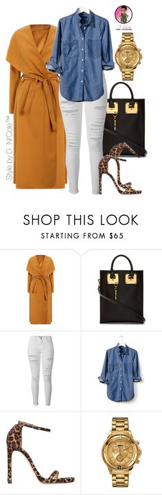"""""""Untitled #2779"""" by stylebydnicole ❤ liked on Polyvore featuring Sophie Hulme, Frame, Banana Republic, Stuart Weitzman and Versus"""