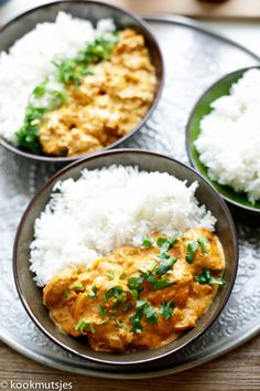 Vegan Tikka Masala, Chicken Tikka Masala, Healthy Crockpot Recipes, Cooking Recipes, Healthy Diners, Comida India, Good Food, Yummy Food, Evening Meals