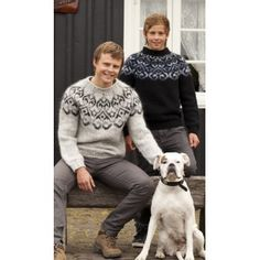 Tailor Made Wool Sweaters Nordic Pullover, Handgestrickte Pullover, Nordic Sweater, Grey Sweater, Knitting Kits, Fair Isle Knitting, Icelandic Sweaters, Wool Sweaters, Knitted Bags