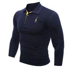 Men's Quality Long Sleeve Polo Shirt