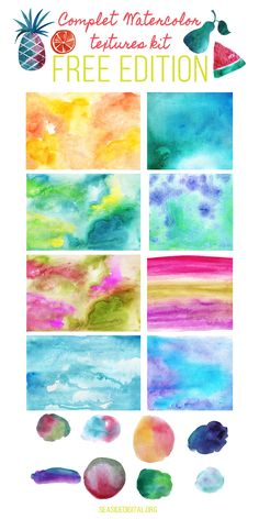 watercolor-textures-kit-free-edition