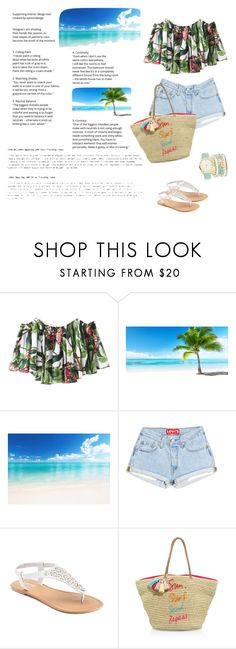 """""""floral tropical print"""" by nadialestari99 ❤ liked on Polyvore featuring CKK Home Decor, SONOMA Goods for Life, Rebecca Minkoff and A.X.N.Y."""