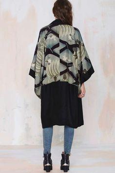 Vintage Kaioki Silk Kimono - Clothes | All | Jackets + Coats | Tops | Vintage