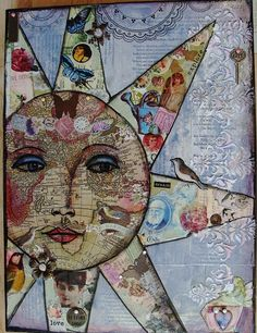 mixed media collage painting
