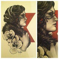 Painting by Tattoo Artist Justin Hartman