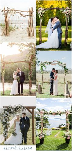 Rustic Country Wooden Wedding Arch for Outdoor Weddings