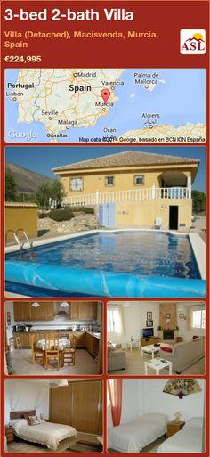 3-bed 2-bath Villa in Villa (Detached), Macisvenda, Murcia, Spain ►€224,995 #PropertyForSaleInSpain