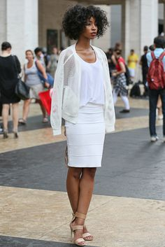 Carlitta Constant attends New York Fashion Week Spring 2015.