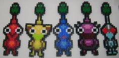 Set of 5 Pikmin Sprites Perler Beads by ClothMonsters on Etsy, $20.00