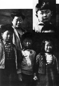 George Takei (left) stands with his mother and siblings during their internment at Camp Tule Lake in California. A part of American history we must never forget.