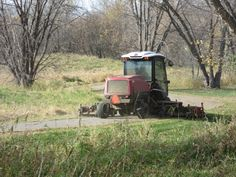 Autumn mowing on the trail - preparation for winter