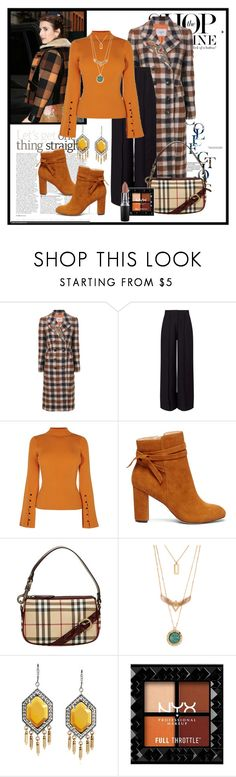 """""""Plaid for Fall"""" by janie-xox ❤ liked on Polyvore featuring Dondup, Miss Selfridge, Karen Millen, Sole Society, Burberry, MAC Cosmetics and plaid"""