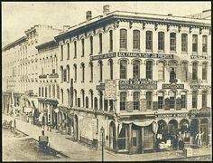 Lovett's Block, Corner of Canal and Pearl, c 1876