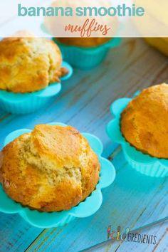 Banana smoothie cupcakes Egg Recipes For Breakfast, Lunch Box Recipes, Fruit Recipes, Muffin Recipes, Dessert Recipes, Cooking Recipes, Desserts, Lunchbox Ideas, Banana Recipes