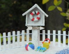 Miniature crab Beach Garden supplies by TheLittleHedgerow on Etsy