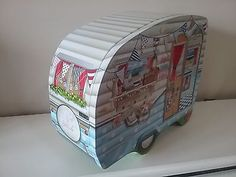 ... The Silver Crane Company So Seaside Caravan Biscuit Tin Novelty Kitsch 2