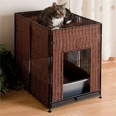 Kingston Cat Litter Box Cover with Cat Bed